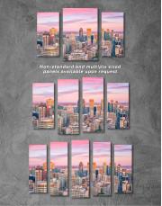 Beautiful Evening Montreal Skyline Canvas Wall Art - Image 3