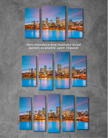Resort Town Cityscape Canvas Wall Art - image 3