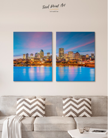 Resort Town Cityscape Canvas Wall Art - image 8