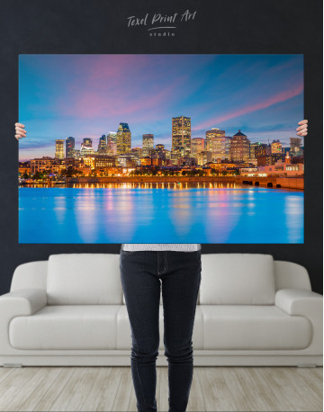 Resort Town Cityscape Canvas Wall Art - image 1