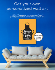An Apron Is Just a Cape on Backwards Canvas Wall Art - Image 1
