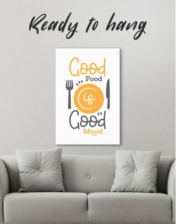 Good Food Good Mood Canvas Wall Art
