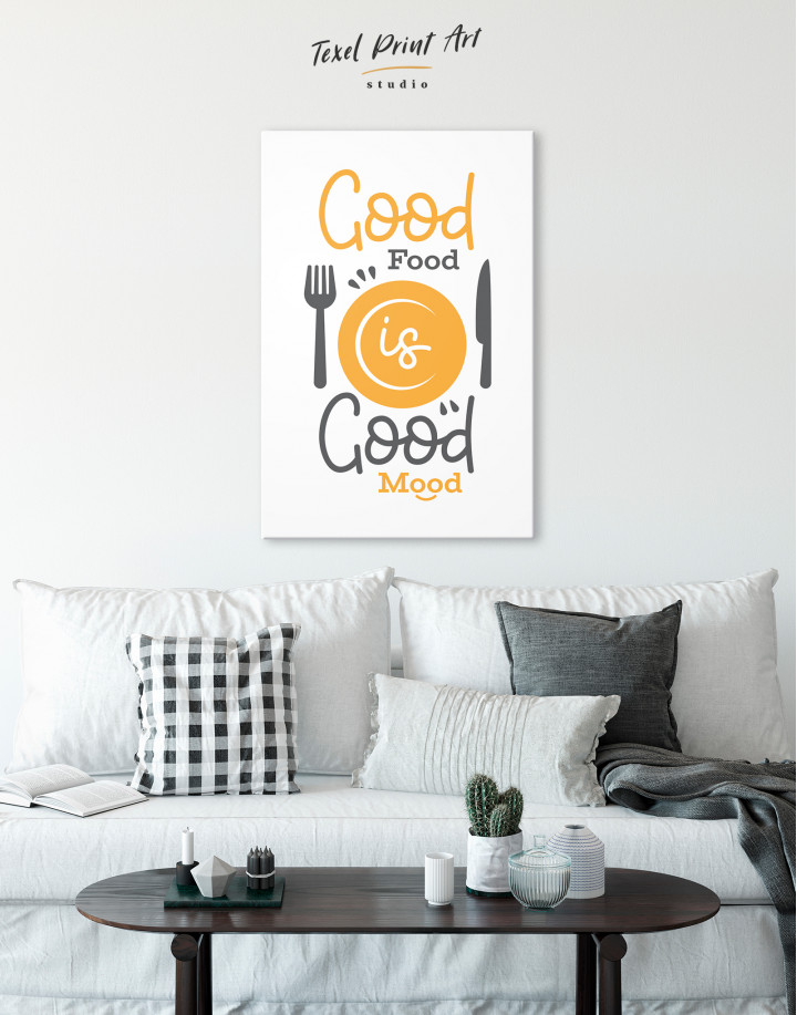Good Food Good Mood Canvas Wall Art - Image 1