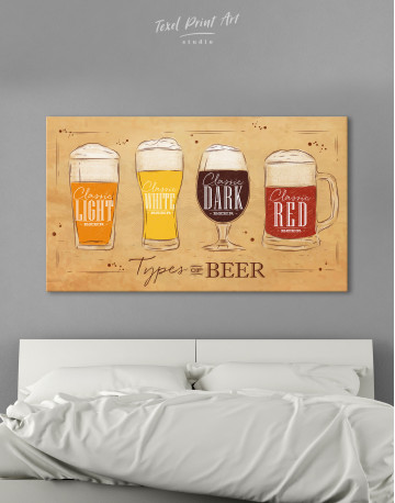 Types of Beer Canvas Wall Art - image 3