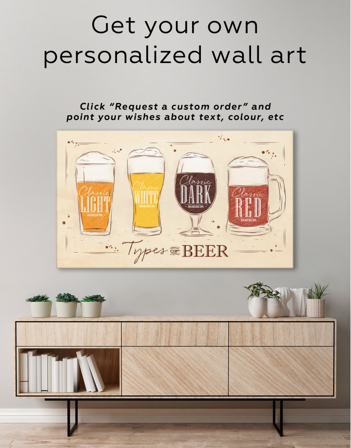 Types of Beer Canvas Wall Art - Image 2