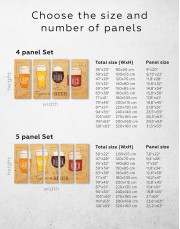 Types of Beer Canvas Wall Art - Image 5