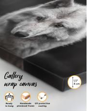 Gray Wolf Canvas Wall Art - Image 2