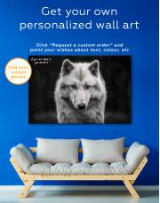 Gray Wolf Canvas Wall Art - Image 4