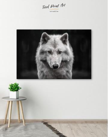 Gray Wolf Canvas Wall Art - image 3