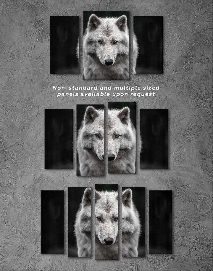 Gray Wolf Canvas Wall Art - Image 5