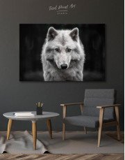 Gray Wolf Canvas Wall Art - Image 6