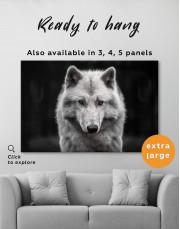 Gray Wolf Canvas Wall Art - Image 7