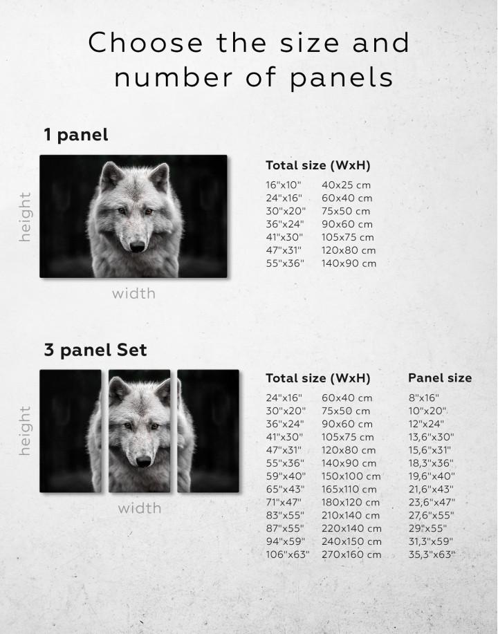 Gray Wolf Canvas Wall Art - Image 8