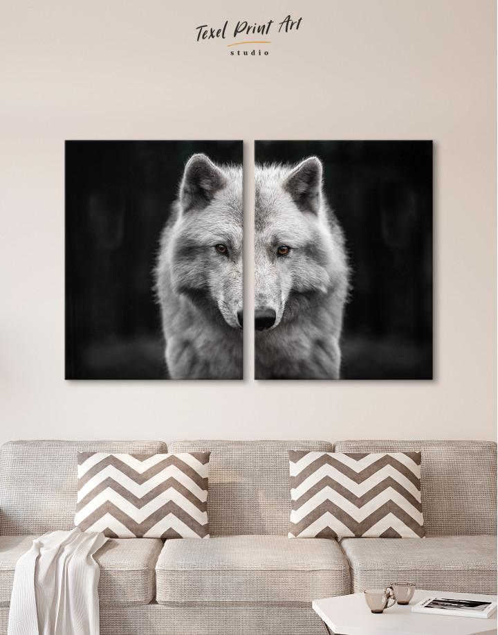 Gray Wolf Canvas Wall Art - Image 9