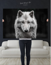 Gray Wolf Canvas Wall Art - Image 1