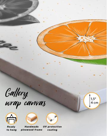 Citrus Orange Canvas Wall Art - image 8
