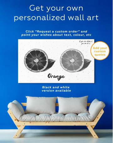 Citrus Orange Canvas Wall Art - image 7