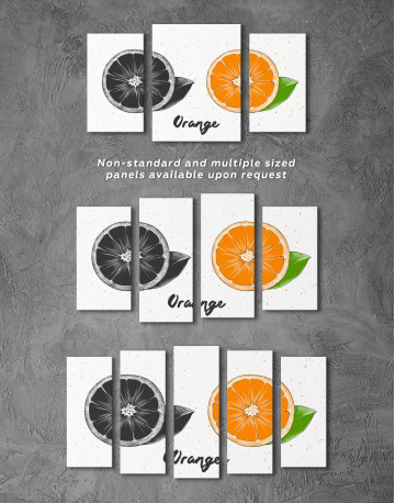 Citrus Orange Canvas Wall Art - image 5