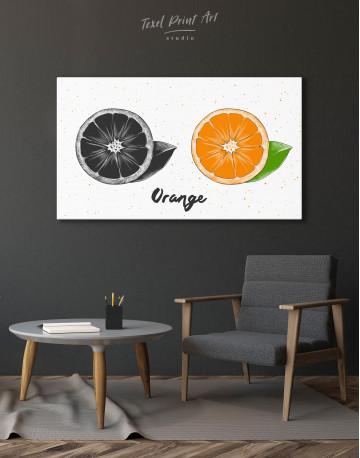 Citrus Orange Canvas Wall Art - image 4
