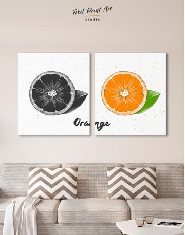 Citrus Orange Canvas Wall Art - image 10