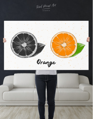 Citrus Orange Canvas Wall Art - image 9