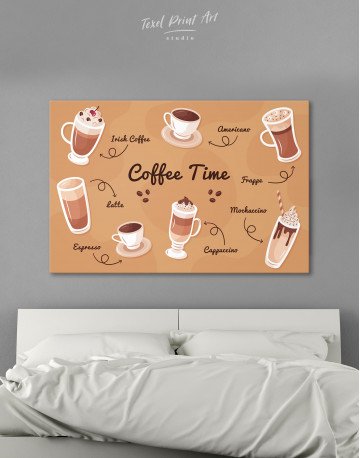 Coffee Time Canvas Wall Art