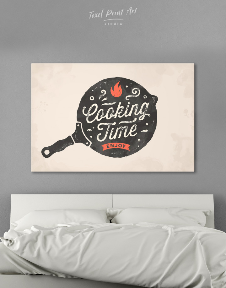 Cooking Time Enjoy Canvas Wall Art