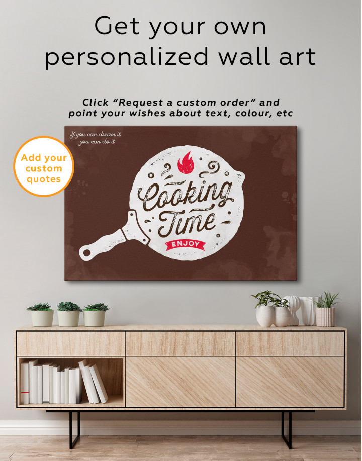 Cooking Time Enjoy Canvas Wall Art - Image 1