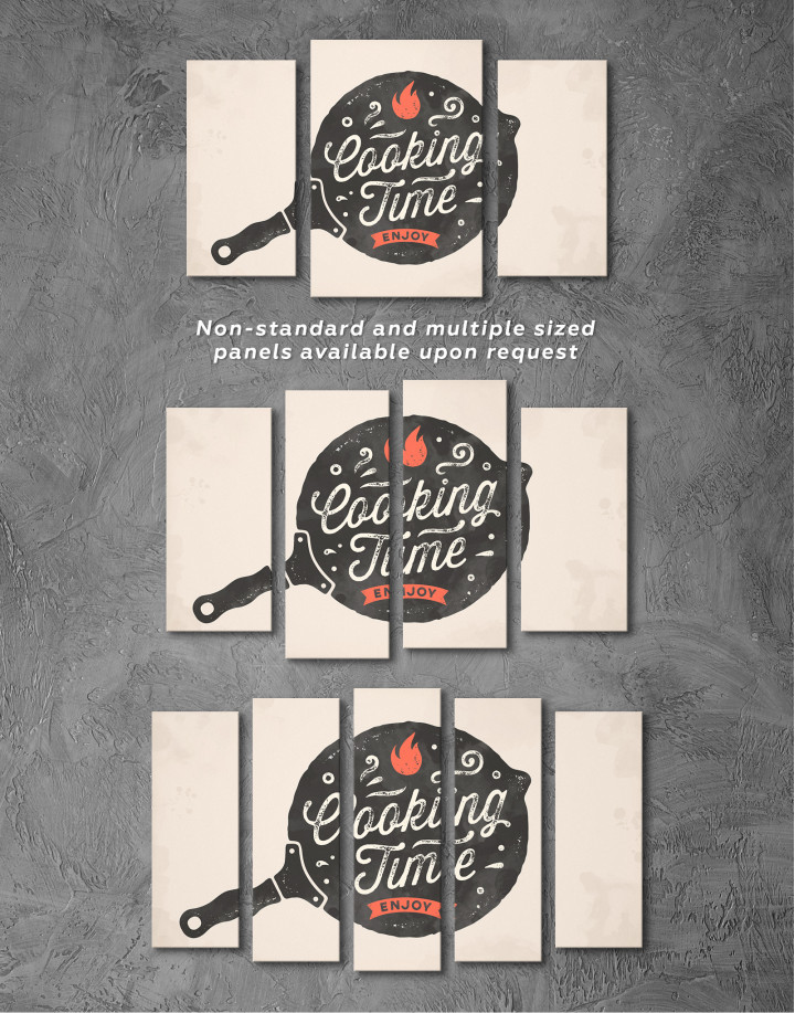Cooking Time Enjoy Canvas Wall Art - Image 2