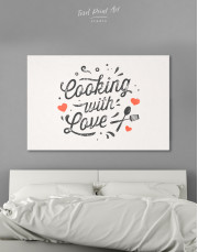 Cooking With Love Canvas Wall Art