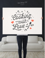 Cooking With Love Canvas Wall Art - Image 3
