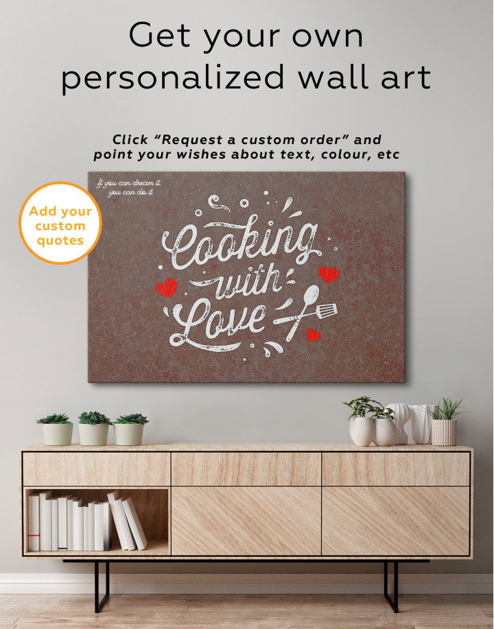 Cooking With Love Canvas Wall Art - Image 5