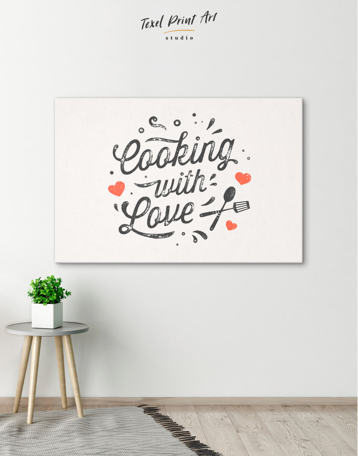 Cooking With Love Canvas Wall Art - Image 6