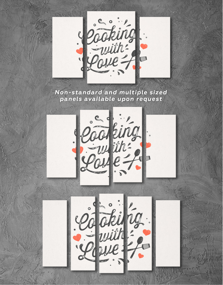 Cooking With Love Canvas Wall Art - Image 2