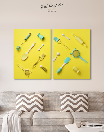 Utensils for Kitchen Canvas Wall Art - image 1