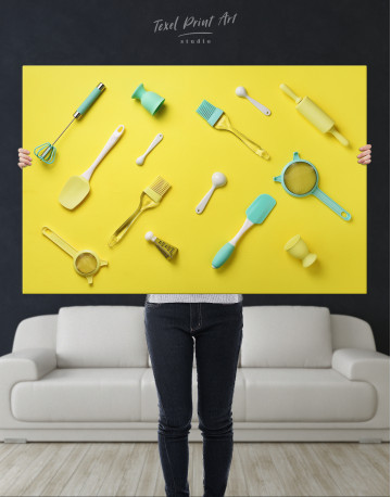 Utensils for Kitchen Canvas Wall Art - image 2