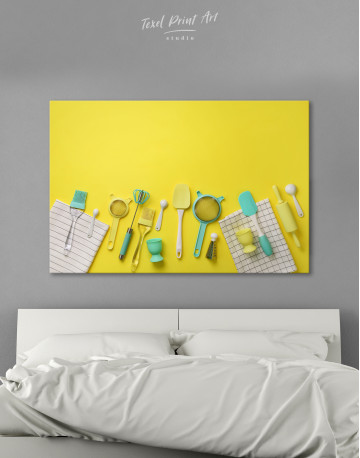 Cooking Background Canvas Wall Art