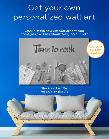 Cooking Background Canvas Wall Art - image 3