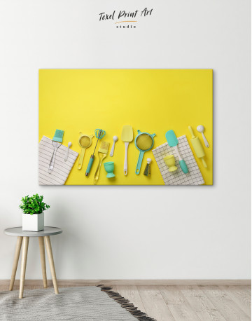 Cooking Background Canvas Wall Art - image 2