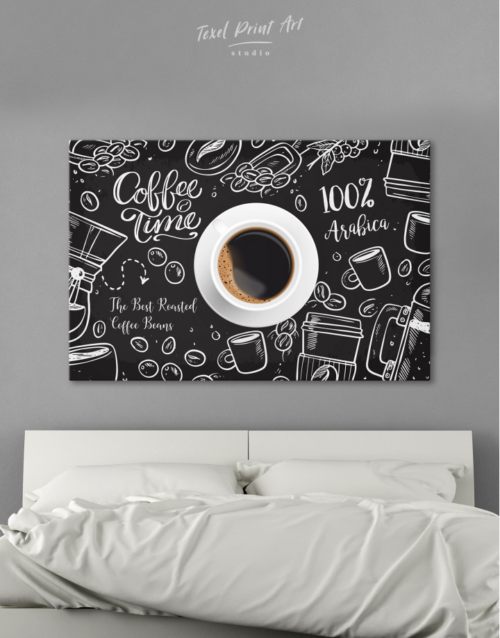 Coffee Time with Arabica Canvas Wall Art