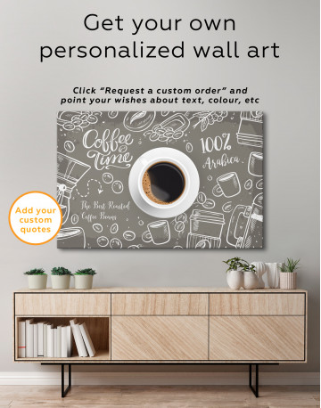 Coffee Time with Arabica Canvas Wall Art - image 7