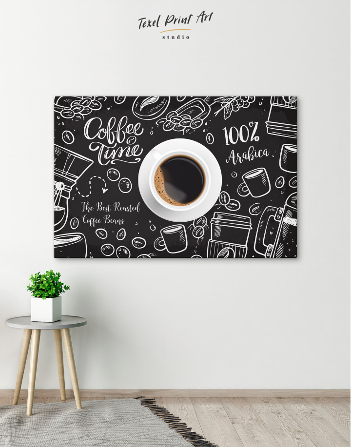 Coffee Time with Arabica Canvas Wall Art - Image 6