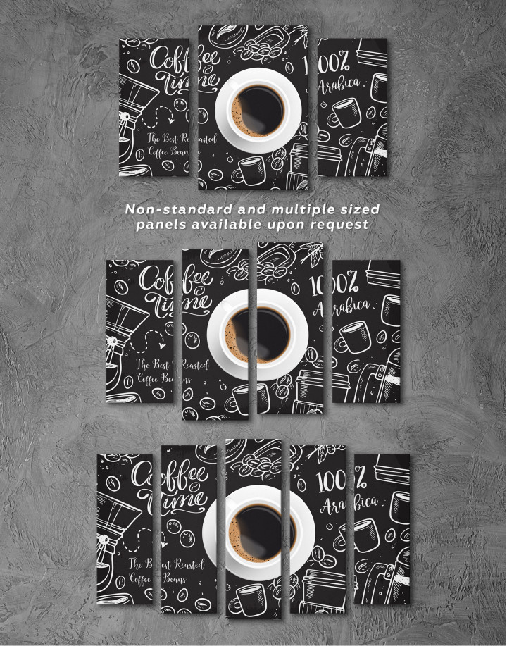 Coffee Time with Arabica Canvas Wall Art - Image 5