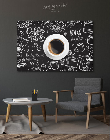 Coffee Time with Arabica Canvas Wall Art - image 4