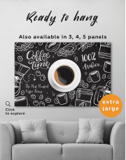 Coffee Time with Arabica Canvas Wall Art - Image 3