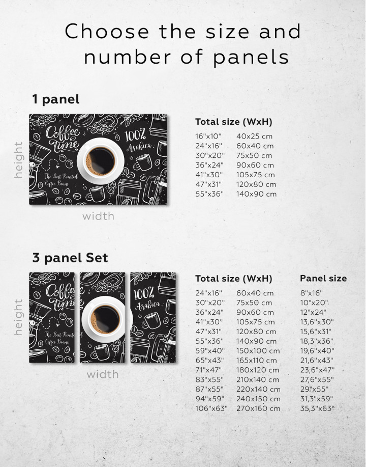 Coffee Time with Arabica Canvas Wall Art - Image 2
