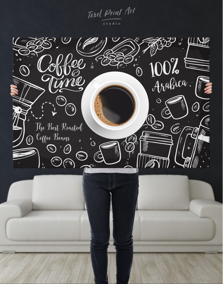 Coffee Time with Arabica Canvas Wall Art - Image 9
