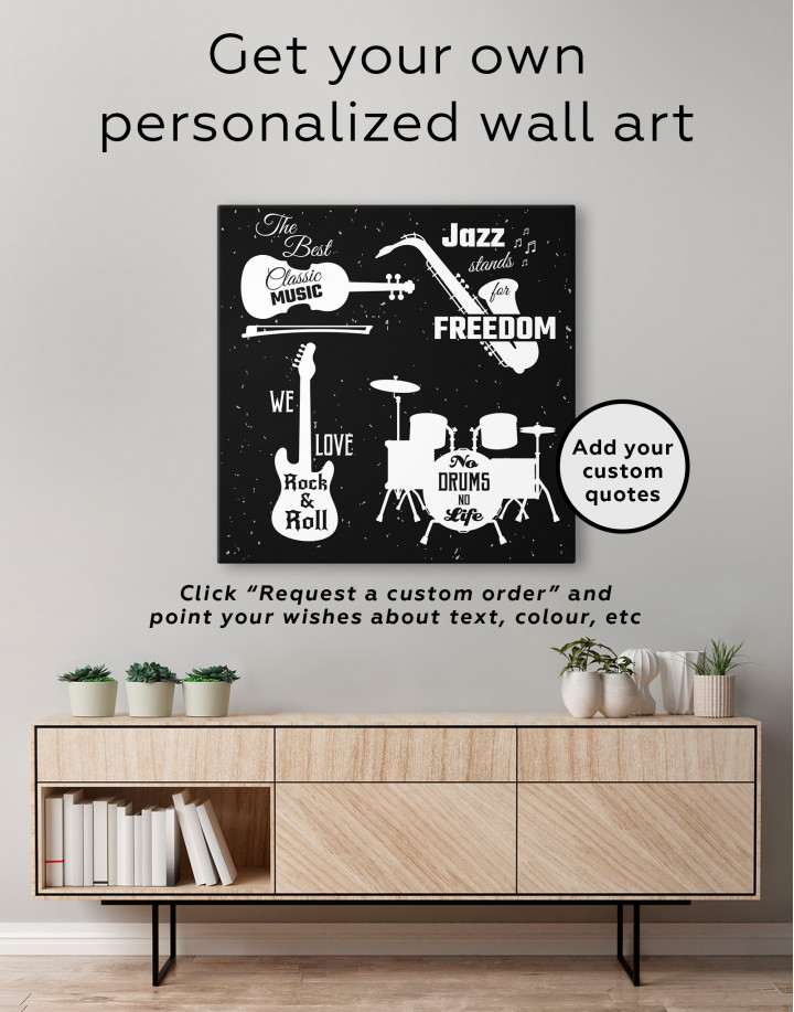 Music Style Quotes Canvas Wall Art - Image 2