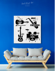 Music Style Quotes Canvas Wall Art - Image 5