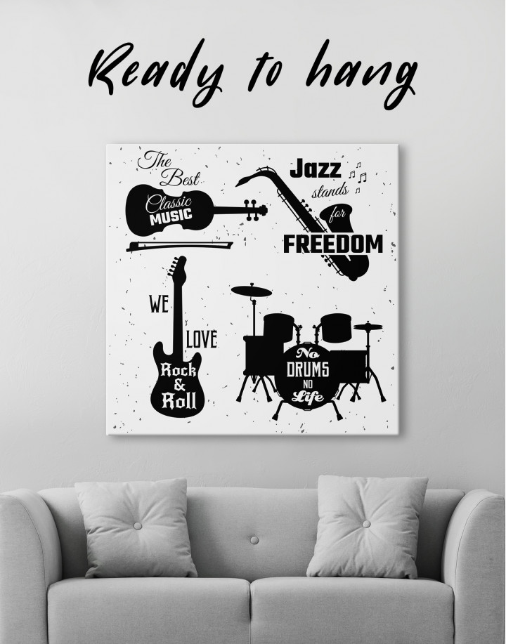 Music Style Quotes Canvas Wall Art - Image 4